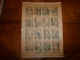 Vers 1900   Imagerie  Pellerin      LES DRAGEES DE BAPTÊME     Imagerie D'Epinal  N° 621 - Vieux Papiers