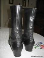 BOTTES  CUIR  NOIR  POINTURE 38 - Zapatos