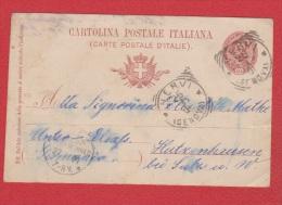 Italie  //  Entier Postal  //  De Nervi  //  Pour Hutzenhausen  // 25/03/1901 - Stamped Stationery