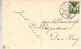 1925 Felicitatiekaart Van Enschede Naar Den Haag Met NVPH 166 - Brieven En Documenten