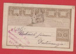 Italie  //  Entier Postal   //  Départ Gênes // - 1878-00 Humbert I