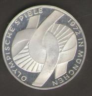 GERMANIA 10 DEUTSCHE MARK 1972 OLYMPISCHE SPIELE MUNCHEN AG SILVER - [ 7] 1949-… : RFA - Rep. Fed. Tedesca