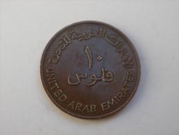 EMIRATS   10 FILS 1973  -1393  AH-   KM 3.1-   BRONZE TTB - Emirats Arabes Unis