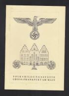 Faltblatt Volksbildungsstätte Gross Frankfurt Am Main - Werbung