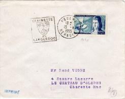 """PAULHAN L'héraud  Belle Oblitération Très Rare """"Clairette Du Languedoc"""" Pour Le Chateau D'oléron - 1921-1960: Moderne"""