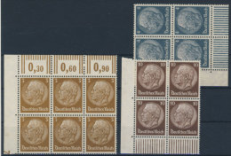 Lot Deutsches Reich Michel No. 513 , 514 , 518 ** postfrisch Viererblock