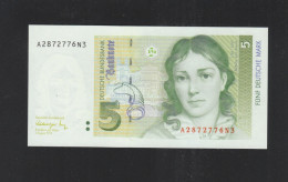 BRD 5 Mark 1991 A Serie Bankfrisch - [ 7] 1949-… : RFA - Rep. Fed. De Alemania