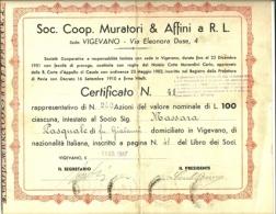 Documento Azionario - Soc. Coop. Muratori & Affini, - Azioni & Titoli