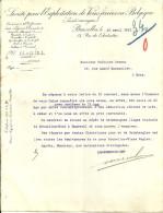 BRUXELLES  Societe Pour L'Exploitation De Voies Ferres En Belgique  20.04.1911 - 1900 – 1949