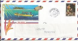 Polynésie  Belle Enveloppe  Oblitérée 9 12 2002 - Lettres & Documents