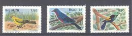 Michel #  1651 - 53  **  Einheimische Vögel - Brésil