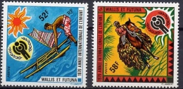Wallis & Futuna 1979 International Year Of Child IYC Celebrations Emblem Horse Stamps MNH SC 229-230 Michel 337-338 - Unused Stamps