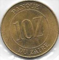 10 Zaires 1988 - Congo (Republic 1960)