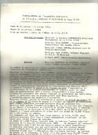 PROCES VERBAL De ASBL SYNDICAT D INITIATIVE Du Pays D'ATH  15.05.1974      4 Pages - Wetten & Decreten