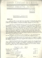 REUNION STATUTAIRE De ASBL SYNDICAT D INITIATIVE Du Pays D'ATH  13.04.1976      4 Pages - Décrets & Lois