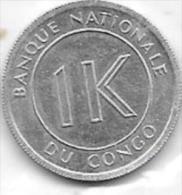 1 LIKUTA 1967 - Congo (Rép. Démocratique, 1964-70)