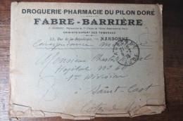 COURRIER MILITAIRE ADRESSE A UN HOSPITALISE EN 1916 - Documents Historiques