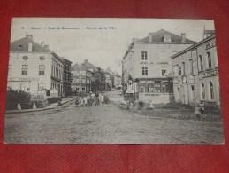 CINEY  - Rue Du Commerce  - Entrée De La Ville  -   1910  - (2 Scans) - Ciney
