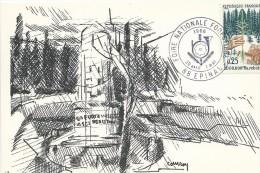YT 1460 Sur Carte Commémorative FOIRE NATIONALE FORESTIERE D'EPINAL - FDC