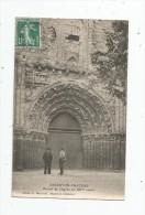 cp , 79 , ARGENTON - CHATEAU , portail de l'�glise du XII e si�cle , voyag�e