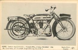 TRIUMPH  RICARDO 1924 EARLY  CYCLES - Motos