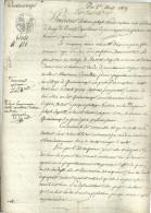 QUEVAUCAMPS  Vente N° 101 Vente D'une Parcelle De Terre  1.08.1809 - Décrets & Lois