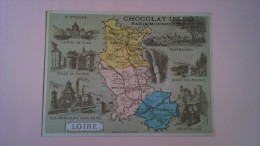 PUBLICITE DU CHOCOLAT IBLED - DEPARTEMENT DE LA LOIRE  - PORT 1 EURO - Chocolat