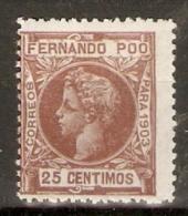 FERNANDO POO 1903 EDIFIL 127* MUESTRA - Fernando Po
