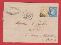 Facture   //  De Laval  //  Pour Colmar //  9 Février 1874 - Marcophilie (Lettres)