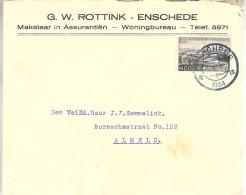 1934  Firma-envel;op Van Enschede Naar Almelo - Brieven En Documenten