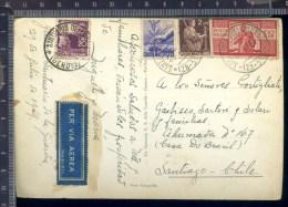 B 382A/81  CARTOLINA POSTALE  VEDUTINE 1949 SALUTI DAL SANTUARIO DELLA GUARDIA VIA AEREA AFFRANCATURA £100 DEMOCRATICA - 6. 1946-.. Repubblica