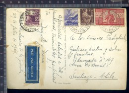 B 382A/81  CARTOLINA POSTALE  VEDUTINE 1949 SALUTI DAL SANTUARIO DELLA GUARDIA VIA AEREA AFFRANCATURA £100 DEMOCRATICA - 1946-.. République
