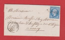 Lettre  //  De Longuyon //  Pour Nancy  //   16 Mai 1864 - 1849-1876: Klassieke Periode