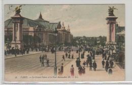 CPA - FRANCE - 1907 - PARIS - Le Grand Palais Et Le Pont Alexandre III. Cachet NIMY .