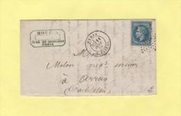 Etoile 29 - Paris - R. Pascal - 11 Sept 1870 - Correspondance Incomplete - Postmark Collection (Covers)