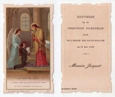 Les Aix-d´Angillon, Image Pieuse Communion Solennelle Maurice Jacquot, 21/05/1933 - Images Religieuses