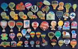 Collection De 55 Pin´s Sur Les Montgolfières Et Les Ballons - Altri