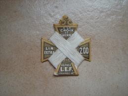 Carte à Fil. A La Croix De Guerre. Lin Extra 200. Déposé L.E.F - Habits & Linge D'époque