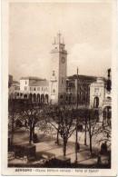 Lombardia-bergamo-piazza Vittorio Veneto Torre Ai Caduti Animata Primi Anni 20 - Bergamo