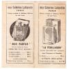 Petit Porte-échantillon De Tissus Avec Pub Pour Les Parfums Sur Les Plats (galeries Lafayette) (PPP1583) - Advertising