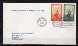 FDC 1954 Human Rights (v2) - New York – UN Headquarters
