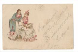 13351 - Couple Femme Assise Koch & Palm Elberfeld Serie 46 - Couples