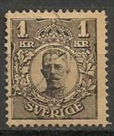 Timbres - Suède - 1910/19 - 1 K. - Avec Filigrane - - Oblitérés
