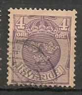 Timbres - Suède - 1911/19 - 4 Ore - - Oblitérés