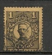 Timbres - Suède - 1910/19 - 1 K. - - Oblitérés