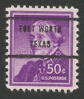 Fort Worth, Texas, 50 C., Sc # 1051 - Voorafgestempeld