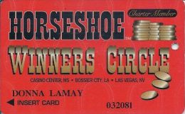 Horseshoe Casino Robinsonville MS 1st Issue Charter Member Slot Card - Casino Cards