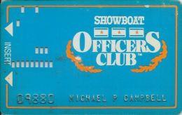 Showboat Casino Atlantic City NJ 1st Issue Officer Club Slot Card - Casino Cards