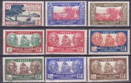 Colonies Francaises Nouvelle Calédonie N° 180,182/189 Palétuviers Case De Chef Bougainville 1939/1940 Neuf * Charnière - New Caledonia