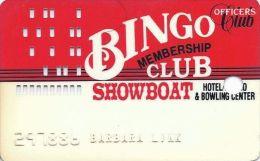 Showboat Casino Las Vegas Officers Club Bingo Membership Club Card - Casino Cards